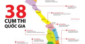 Bản đồ 38 cụm thi THPT quốc gia 2015 - Sưu tầm