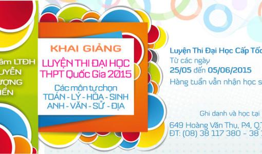 Khóa luyện thi cấp tốc 2015 - Luyện thi đại học tháng 6/2015