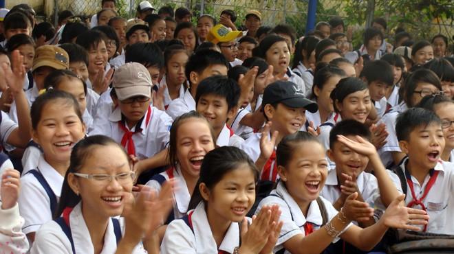 HS Trường THCS Phong Phú, TP.HCM - Ảnh: P.Đ.