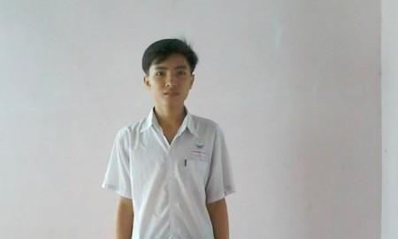 Cao Minh Tiến, Thủ khoa Trường ĐH Xây dựng miền Tây (Ảnh: Nhân vật cung cấp)