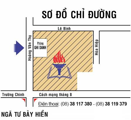 Đường đi đến trung tâm luyện thi đại học Nguyễn Thượng Hiền - Tp HCM