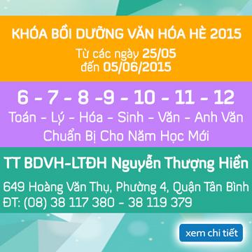 Khai giảng các lớp Bồi Dưỡng Văn Hóa Hè 2015