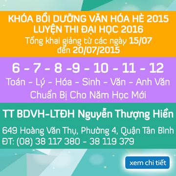 Khai giảng các lớp Bồi Dưỡng Văn Hóa Hè 2015 - LTĐH 2016