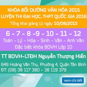 Khai giảng khóa Bồi Dưỡng Văn Hóa, LTĐH, Luyện thi THPT quốc gia 2015